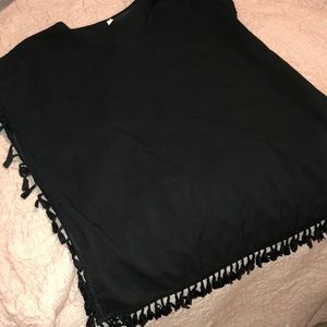 Other - Black Tassel Swim Coverup